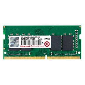 Image for product 'Transcend JM2400HSB-8G JetRam SO-DIMM [8GB, DDR4, 2400Mhz, CL17, 1Rx8/ 512M x8, 1.2V]'