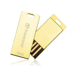 Image for product 'Transcend TS32GJFT3G JetFLash T3 Gold Luxury USB Stick [32GB, USB2.0, strap, Spill/ Dust resistant]'