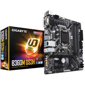 Image for product 'Gigabyte B360M DS3H [mATX, LGA1151, Intel B360, 4x DDR4 DIMM 2666Mhz, USB3.1 Gen1, PCIe x16]'