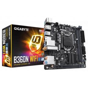 Image for product 'Gigabyte B360N WIFI [Mini-ITX, LGA1151, Intel B360N, 2x DDR4 DIMM, 2666MHz, M.2, USB3.1, BT5, WLAN]'