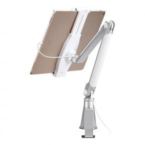 Image for product 'Newstar TABLET-D100SILVER Anti-Theft Tablet Desk Stand [10.1 inch, Clamp, Height adjustment, Silver]'