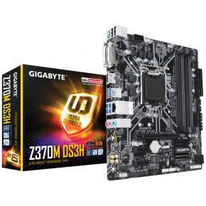 Image for product 'Gigabyte Z370M DS3H [uATX LGA1151 V2, Intel Z370, 4x DIMM DDR4-2666, M.2, USB3.1, TPM, 7.1CH]'
