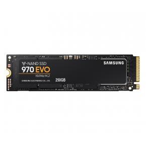 Image for product 'Samsung MZ-V7E250BW 970 EVO SSD [250GB, M.2 NVME, 3D MLC, 3400/ 1500MB/s, 200k/350k IOPS, Black]'