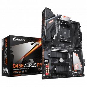 Image for product 'Gigabyte B450 AORUS PRO [ATX AMD AM4, B450, 4x DDR4 DIMM, 3200Mhz, Quad-CF, USB3.1 Gen2, Dual M.2]'