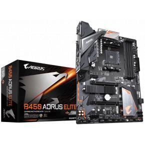 Image for product 'Gigabyte B450 AORUS ELITE [ATX, AMD TR4, B450, Ryzen, 4x DDR4-3200, 2x M.2, 8x SATA3, 6x USB3.1]'
