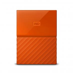 Image for product 'Western Digital WDBS4B0020BOR-WESN My Passport External HD [2TB, Micro-USB, USB3.1 Gen1, Orange]'