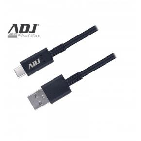 Image for product 'ADJ 110-00103 Next Fast Charge Cable [USB2.0/ USB Type C, 3A Fast charging, 1.5M, Black]'