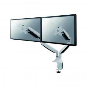 "Image for product 'Newstar FPMA-D750DWHITE LCD/ Flatscreen Monitor Bureausteun [2x 9kg, 10-32"", height adjust, white]'"