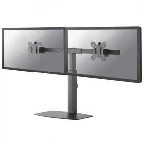 "Image for product 'Newstar FPMA-D865DBLACK Flatscreen bureausteun [2x 10-27"", 12kg, 35 - 46cm, 75x75/100x100mm, Black]'"
