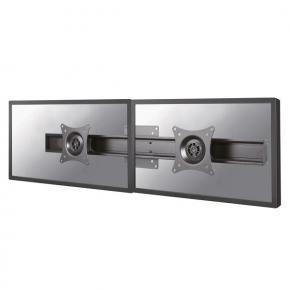 "Image for product 'Newstar FPMA-CB200BLACK dubbele monitor adapter [2x 10 - 27"", 14kg, 75x75/ 100x100mm, Black]'"