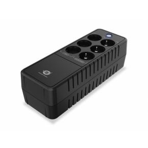 Image for product 'Conceptronic ZEUS 05E UPS [650VA, 360W, 6x IEC, Overload+Ethernet protection, Microprocessor, Black]'