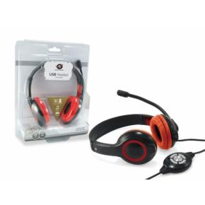 Image for product 'Conceptronic CCHATSTARU2R Wired Call center/Office Digital head-set [20 - 20000 Hz, Binaural, Red]'