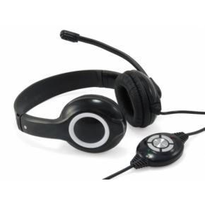 Image for product 'Conceptronic CCHATSTARU2B, Wired PC/Gaming Headset [USB, 20 - 20000Hz, Head-band, Black/Red, 2m]'