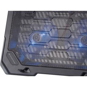"Image for product 'Conceptronic THANA 01B Notebook Cooling Pad [15.6"" max, 2x fan, Blue LED, Black]'"