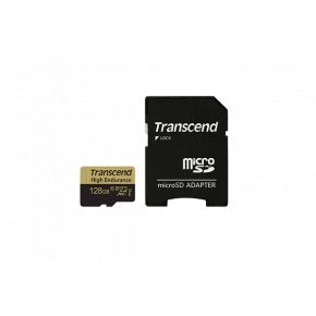 Image for product 'Transcend TS128GUSDXC10V High Endurance microSDXC [128GB, MLC NAND, ]UHS-I U1, 90/50 MB/s, FHD]'
