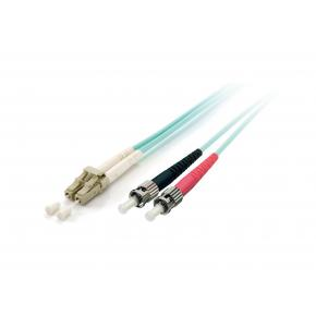 Image for product 'Equip 255217 Optical Fiber Patch Cord [LC/ST, OM3, Male/Male, 15 m, Turquoise]'