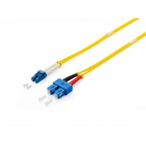 Image for product 'Equip 252237 Optical Fiber Patch Cord [ST/ST, OS2, LSZH, 15m, Yellow]'