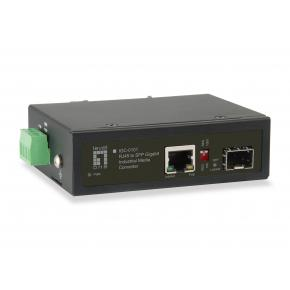 Image for product 'LevelOne IGC-0101 RJ45 to SFP Gigabit Industrial Media Converter [1x PoE Output, 10/100/1000Mbps]'