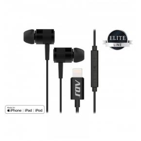 Image for product 'ADJ 780-00027 Black Onyx Earphones [ Lightning, Mic/Vol Ctrl , Black]'