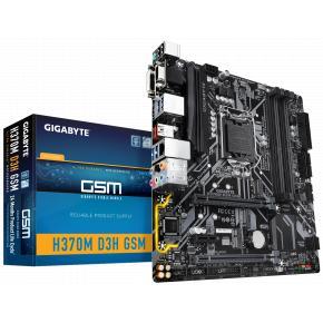 Image for product 'Gigabyte H370M D3H GSM [mATX, LGA1151, Intel H370m, 4x DIMM DDR4, 2666 MHz, USB3.1 Gen2, M.2, TPM]'