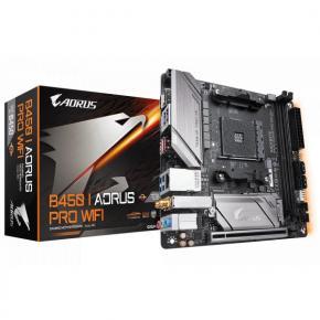Image for product 'Gigabyte B450 I AORUS PRO WIFI [Mini-ITX, AMD AM4, B450, 2x DIMM DDR4 3200Mhz, USB3.1 Gen2, M.2]'