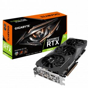 Image for product 'Gigabyte GV-N208TGAMING OC-11GC GeForce RTX 2080 Ti GAMING OC 11G [PCIe x16, 11 GB, GDDR6, 352-bit]'