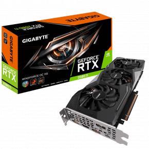Image for product 'Gigabyte GV-N208TWF3OC-11GC GeForce RTX 2080 Ti WINDFORCE OC 11G [PCIe x16, 11GB, GDDR6, 352 bit]'