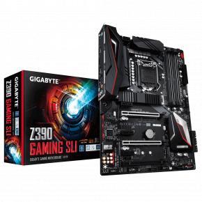 Image for product 'Gigabyte Z390 GAMING SLI [ATX, LGA1151-V2, Intel Z390, DDR4-2666 MHz, M.2, USB3.1, TPM, Quad-GPU]'