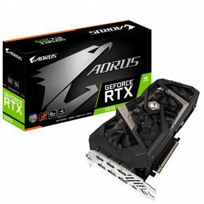 Image for product 'Gigabyte GV-N2070AORUS-8GC AORUS Nvidia GeForce RTX 2070 8G [8GB, GDDR6, 256-bit, 448 GB/s, 550W]'