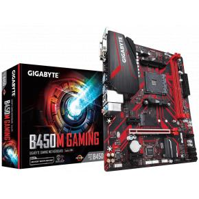 Image for product 'Gigabyte B450M GAMING [mATX, AMD AM4, Ryzen, 2x DDR4 2933Mhz DIMM (32GB) 2x M.2, USB3.1, TPM]'