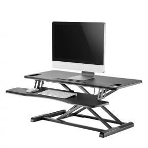 Image for product 'Newstar NS-WS300BLACK Sit-Stand Desktop Workstation [1x 17kg, 11 - 51 cm, Black]'