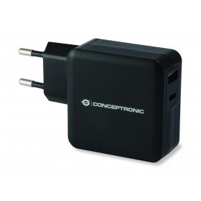 Image for product 'Conceptronic ALTHEA01B ALTHEA 01B USB PD Charger [USB Type-C, 2x USB Type-A, 20 V, Black]'