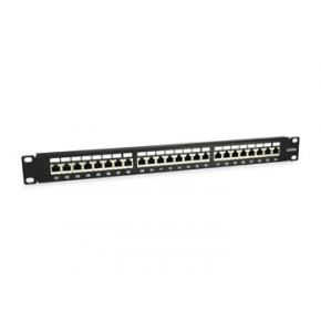 Image for product 'Equip 326625 Patch Panel [19Inch 1U, 24-Port, Cat.6A, Unshielded, black]'