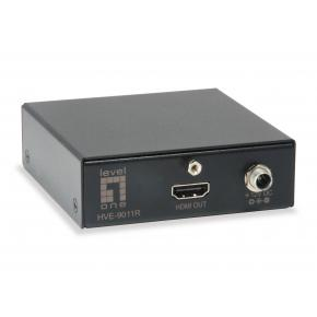 Image for product 'LevelOne HVE-9011R HDMI over Cat.5 Receiver [3840 x 2160 pixels, Wired, 30 Hz, 50 m, Black]'