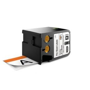 "Image for product 'Dymo 1868713 Pre-Sized XTL Safety Labels [2"" x 4"", Black on white + orange header, 70 pc(s) Black]'"