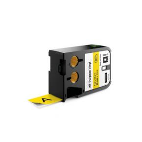 """Image for product 'Dymo 1868773 XTL™ All-Purpose Vinyl Labels [1"""" (24mm) Thermal Transfer, Black on yellow]'"""