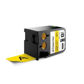 """Image for product 'Dymo 1868774 XTL™ All-Purpose Vinyl Labels [1-1/2"""" (41mm) Thermal Transfer, Black on yellow]'"""