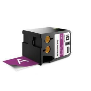"""Image for product 'Dymo 1868795 XTL™ All-Purpose Vinyl Labels [2"""" (54mm) Thermal Transfer, White on purple]'"""