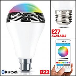 Image for product 'WOOX R4554 Smart B22 LED lamp RGB & warm wit, powered by TUYA'