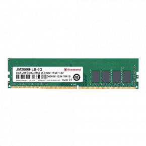 Image for product 'Transcend JM2666HLB-8G JetRam [8GB, DDR4-2666, U-DIMM, 1Rx8/ 1Gx8, CL19, 1.2V]'