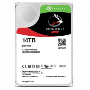 "Image for product 'Seagate ST14000VN0008 IronWolf HDD [14 TB, 3.5"", SATA3, 7200 RPM, 6Gbps, 7.9 W]'"