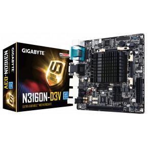 Image for product 'Gigabyte N3160N-D3V [Mini-ITX, LGA1151, Intel N3160 SoC Quad, 2x SO-DIMM DDR3L-1600, M.2, USB3.0]'