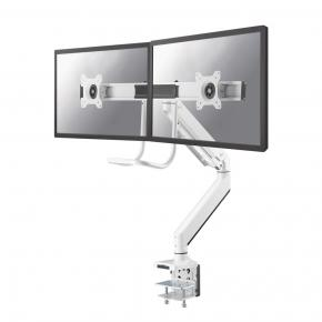 "Image for product 'Newstar NM-D775DXWHITE Flat screen/ TV desk mount Clamp [8 kg, 10 - 32"", 100x100 mm, White]'"