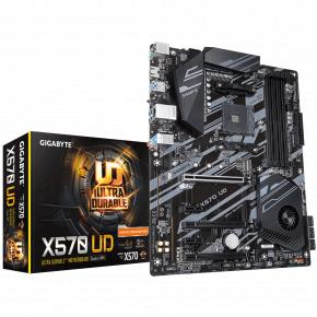 Image for product 'Gigabyte X570UD [PCIe4.0, ATX, AMD AM4, Ryzen, 4x DIMM DDR4-4000, USB3.2, M.2, QuadCF]'