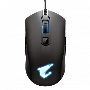 Image for product 'Gigabyte GM-AORUS M4 Optical Mouse [USB, 5-button, 6400 DPI Switch, 1000Hz, 1,8m, Matt black]'