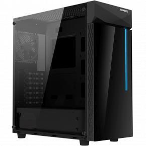 Image for product 'Gigabyte GB-C200G C200 Midi-Tower [ATX, Glass window, USB3.0, 120mm, Plastic/Steel, Black]'