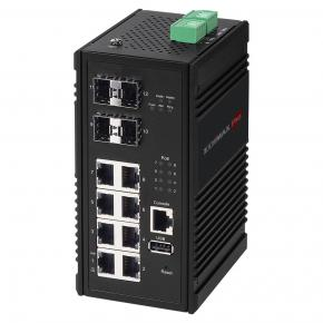 Image for product 'Edimax IGS-5408P Industrial 8-port Gigabit PoE+ Web managed switch w/ 4x SFP slots'