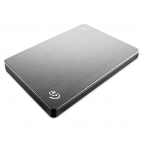 Image for product 'Seagate STHN1000401 Backup Plus Slim HDD [Extern, 1 TB, USB3.2 Gen1, 120 Mbps, Silver]'