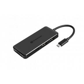 Transcend TS-HUB5C HUB5C USB hub [USB3.1 Gen2/ Type-C, 2x USB3.1 Type-A, USB-C charging, MicroSD/SD]