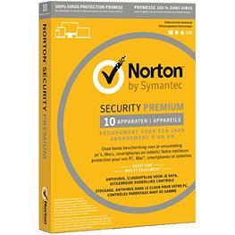 Image for product 'Norton / Symantec DSD190036 Norton Security Premium + Backup 25GB 10-Devices 3jaar'